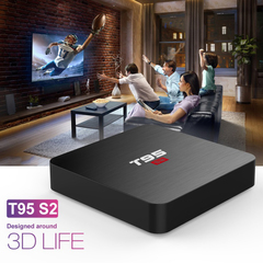 T95 S2 1+8G network set top box 4K high definition intelligent remote control network TV box