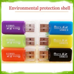 Environmental protection shell really U head High speed USB card reader as show md-008 card reader card reader