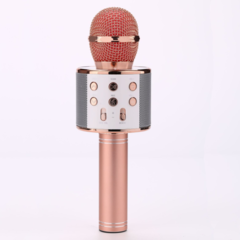 Mobile phone speaker system home audio integrated music live music Bluetooth wireless microphone rose gold 5w WS858