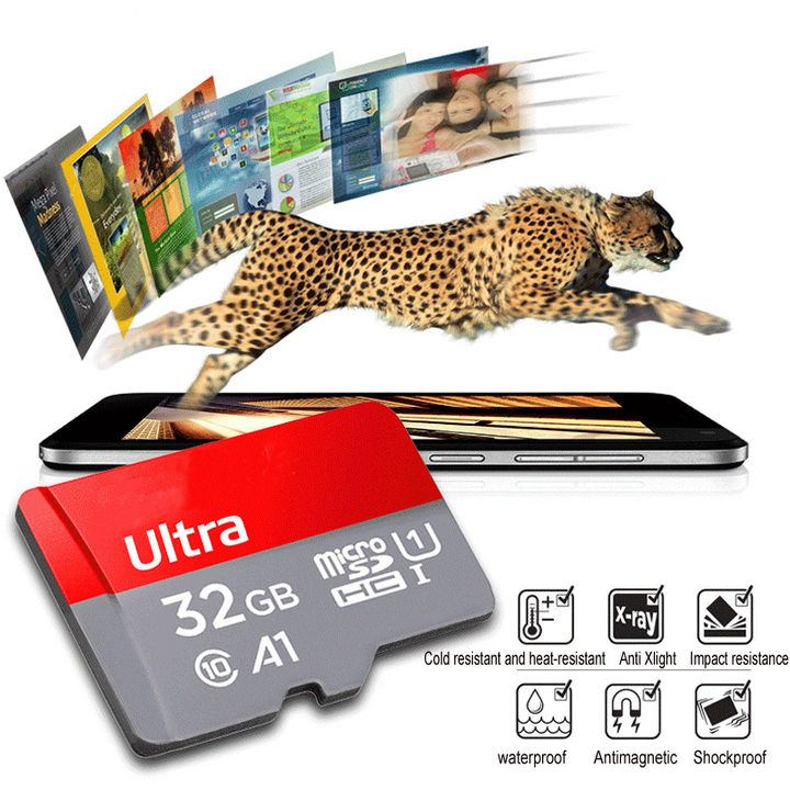 High Speed Class 10 TF MicroSD Card 32G Memory Card Red Micro sd Memory Cards as show Sand-310 32G Sd