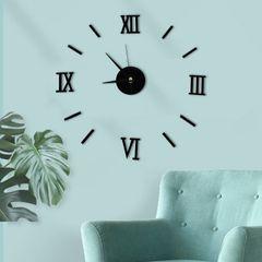 Creative Acrylic DIY Wall Clocks 3D stereo wall clock Silent movement Home Clocks Home Clock Black