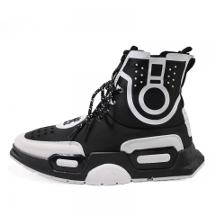men's high-top comfort sneakers casual shoes black 39