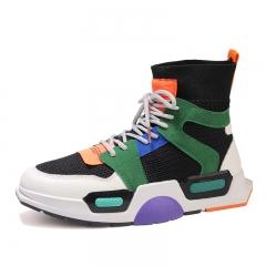 Men's high-top sneakers men's fashion casual shoes black 39