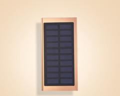 New portable solar mobile power supply 8000 mAh ultra-thin charging treasure local gold 8000