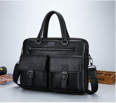 New fashion mens bag jeep shoppe quality products business bag shoulder bags leisure bag briefcase black one size