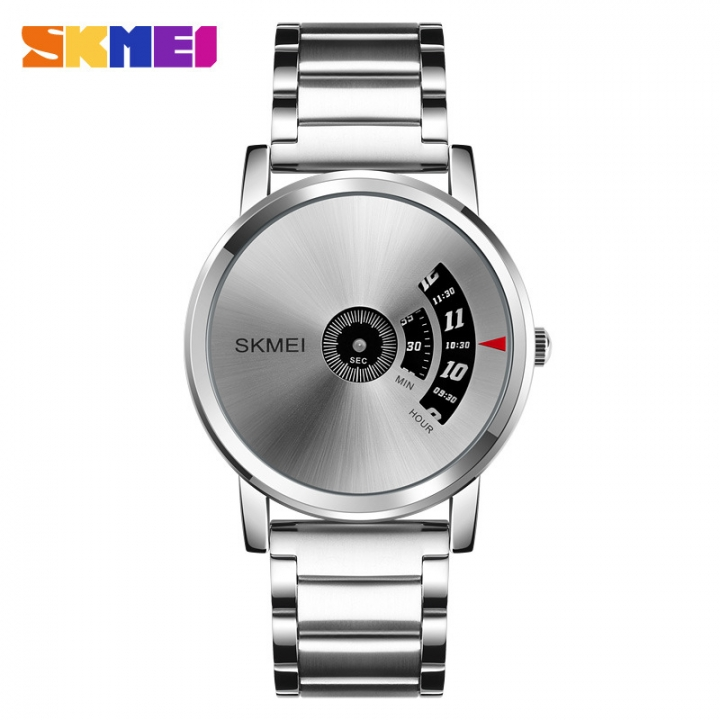 New personality business man watches creative fashion watches, men's quartz watches Silvery white