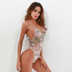 2018 new products ladies look at the embroidered lingerie underwear. white S