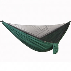 Single and double parachute cloth anti mosquito hammock Blackish green 290cm*140cm
