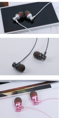 Ear heavy bass headphones, mobile phones, universal headphones, wired headphones and wheat.