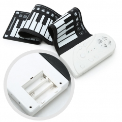 49 key with horn, hand roll, piano, folding electronic piano, children's beginner's practice.