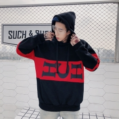 New Hip-hop hooded men and women's sweater Korean version students' loose heads. black l