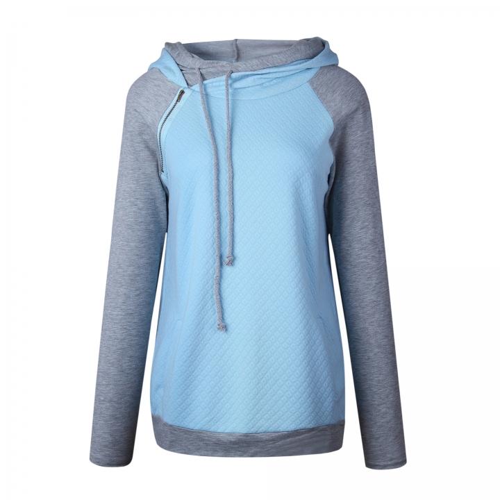 b1ff960d88097 New womens Oversize Sweatshirts Pullover Hoodie Female Patchwork Double  Hood Hooded Sweatshirt blue 3xl