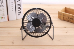 Mini USB Table Desk Personal Fan Metal Design,  USB Cable, High Compatibility Black