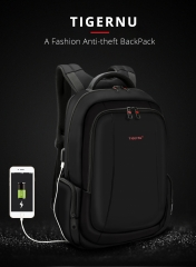 TB3143 New arrival external USB charging port cool anti theft backpack Black 14