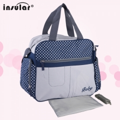 Diaper Bags Backpacks Brand Mom Nappies Bags Fashion Mother Backpack 10033# 02# Blue 36*15*32cm