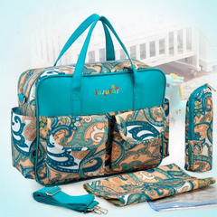 Mommy Baby Nappies Bags Travel Bags Mom Backpack Maternity Large Capacity Outdoor Bags 6069# 02#  Turquoise 39*12*29cm(LxWxH)