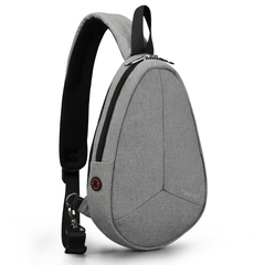 Spring nylon waterproof wear-resistant fashion trend sports casual Messenger bag Grey 31*21*5cm