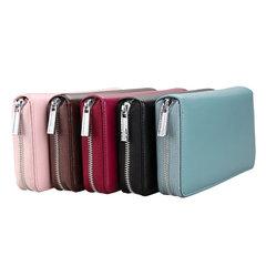 KB160 2019 fashion single zipper luxury designer women pu leather wallet lady ladies long purse Pink purple 20*11*3cm