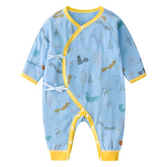 Baby jumpsuit Summer thin Clothes 0-3 Months Cotton Newborn Jhacs blue 66 yards(6-9month)