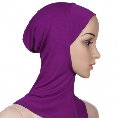 Soft Classical Conventional Muslim Modal Mini Hijab Khimar Inner Cap Coffee