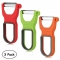 3PCS Trio Magic Vegetable Fruit Peeler with Sharp Blade Kitchen Gadgets Tools Red Green Orange 8*5*12cm