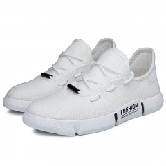 2018 men's summer breathable fashion men's shoes with white shoes men's shoes white 44