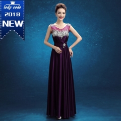 New Summer Women Clothing Elegant Slim Thin Strapless Boat Neck Off Shoulder Waistline Women Dress s purple