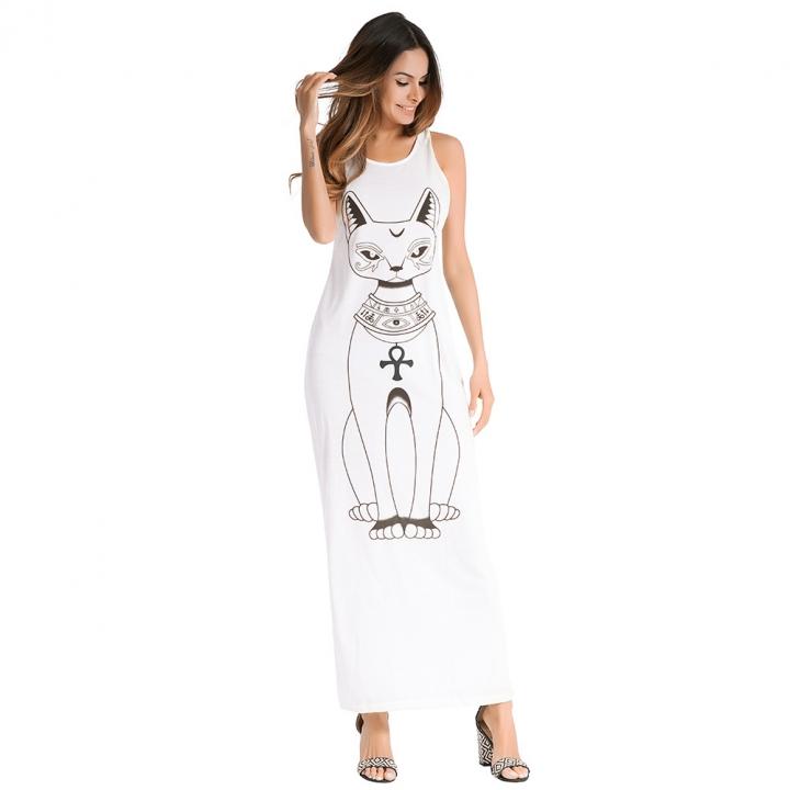 f714a76236 Amazon explosion models European and American brand women s cartoon cat strap  dress sexy long skirt xxl