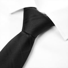 Men's Black Stripe Business Tie black strips adult