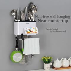 Simple and creative wall-mounted nail-free wall hanging kitchen box