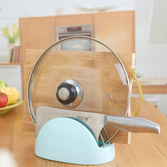 Creative kitchen cutting board shelf contracted thickening tool slide