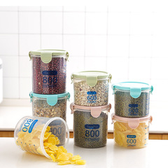 Kitchen transparent food preservation sealed cans with cover grain storage cans snack storage box