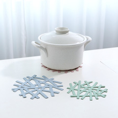Table insulation pad creative snowflake shape heat-resistant hollow casserole pad anti-scalding