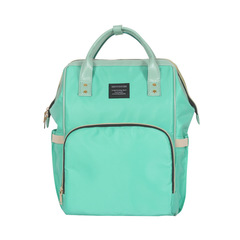 Multi-function waterproof shoulder bag for mother and baby green 44.0 cm * 29.0 cm * 7.0 cm