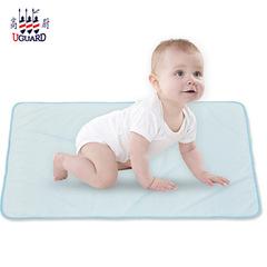 Bamboo fiber urinal mattress waterproof anti-mite mattress care is not wet can machine wash blue 45*60cm
