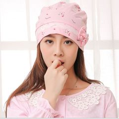 Cotton summer and autumn maternity cap windproof pink 29*19cm