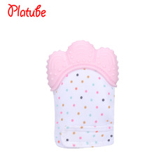 Anti-bite grinding gloves children's vocal toys mother and baby supplies pink 10cm