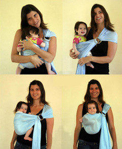 Baby's back towel is comfortable Sky blue 200cmx76cm