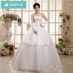 Big yards sweet  wedding dresses s white