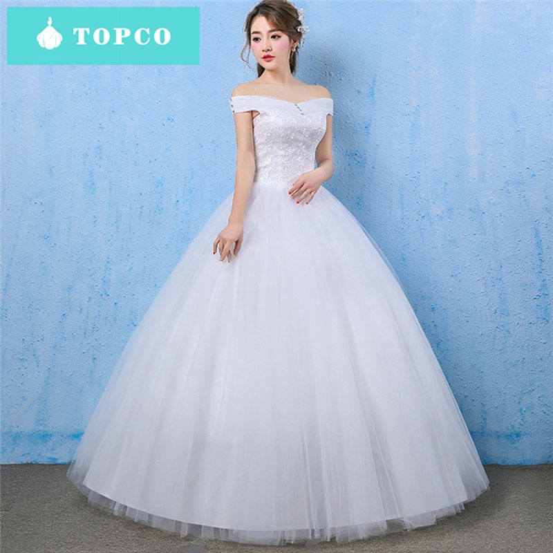 Simple Wedding Gowns In Kenya: TOPCO Simple Style Sweet Wedding Dress 2019 New Bride