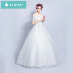 White tulle off-the-shoulder ball gown lace sexy wedding dress xs white
