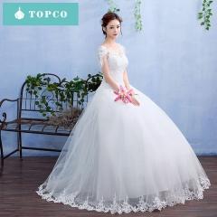 2018 new style wedding dress slim lace trim s white