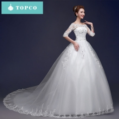 Elegant sexy and beautiful wedding dress xl white