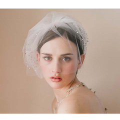 European and American style veil bride's short headdress wedding veil white uniform code