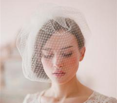 European and American Bridal Veil double veil veil head veil hand sewing Comb Bridal headdress white Uniform code