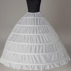 Six steel Wedding skirt brace petticoat 6-ring yarn-free increase brace Wedding gown accessories One size white