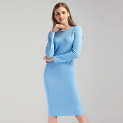 Europe and the United States package hip long paragraph bottom dress foreign trade women's clothing black s