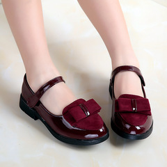 Fashion new princess shoes girls shoes Red wine 30
