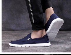 New cloth shoes for 2019 lazy canvas breathable shoes blue 38