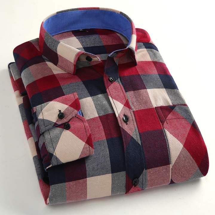 Port&Lotus Plaid Men Casual Shirt 107 15144 M